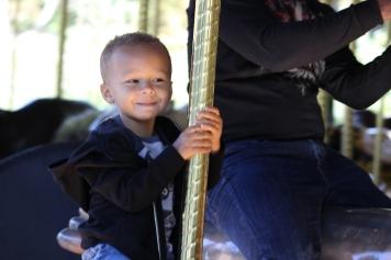 Mr. B on the carousel